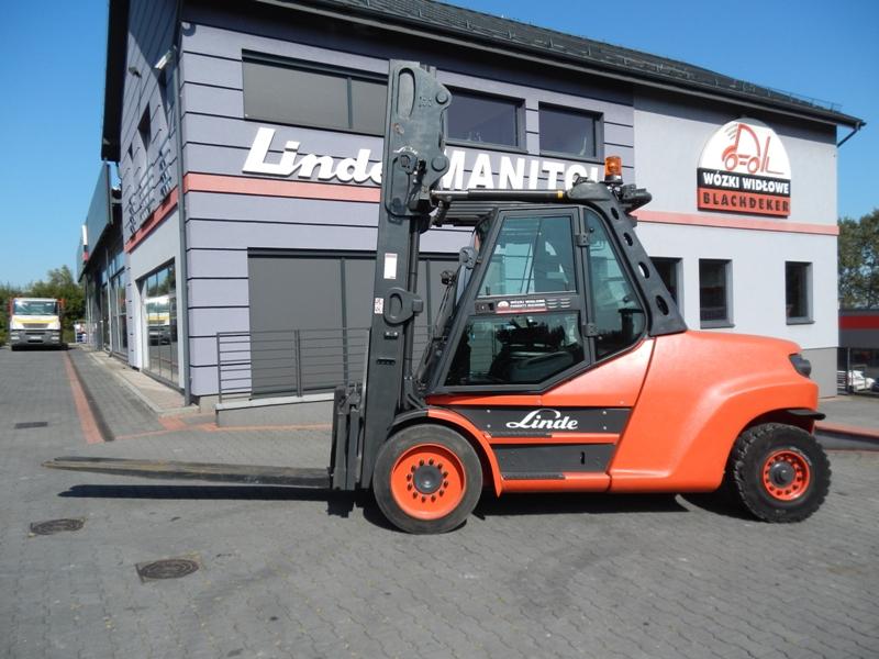 Diesel forklift Linde H80D-02/1100 Triplex , side shift Kaup